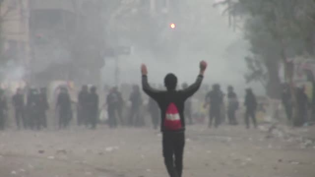 One protester was killed on Monday in clashes with police outside Cairo's security headquarters in the wake of deadly football violence and amid...