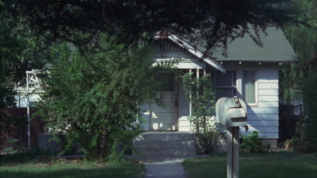 WS One story California style bungalow house