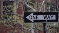 One way sign of New York
