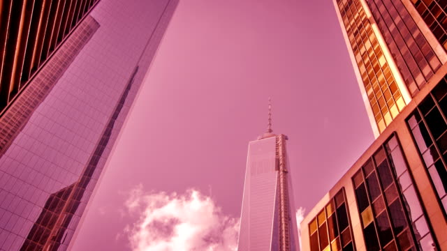 One World Trade Center and Financial District Skyscrapers in Lower Manhattan, New York City
