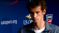 Andy Murray interview following victory USA New York Flushing Meadow INT Andy Murray interview with ITV news reporter Robert Moore SOT re weight of...