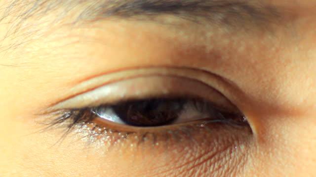 Offenen Auge Makro Schuss