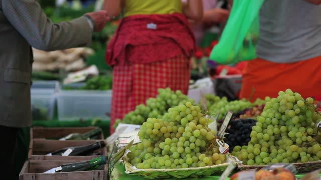 Open Fruit Market Close-up