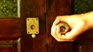 open wooden modern door
