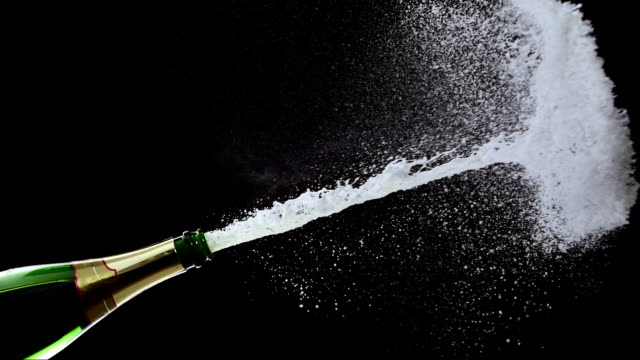 Opening A Champagne (Super Slow Motion)