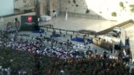 Opening ceremony commemorating the 50th Anniversary of the Six Day War resulting in unification of the city under Israeli control The Paratrooper...