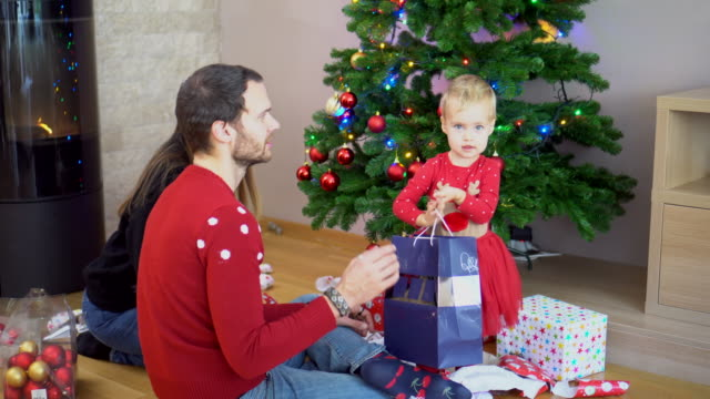 Opening Christmas Gifts