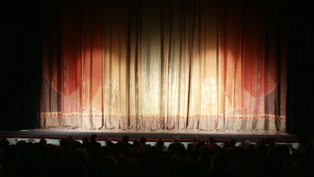 Opening curtain - Isolated On Green