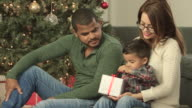 Opening Presents with Mom and Dad