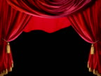 opening theater curtain with catch or alpha channel