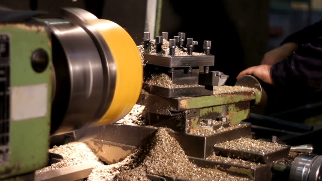 Operating the Industrial Lathe
