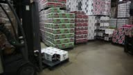 Operations in the warehouse of Baumgarten Distributing Co in Peoria Illinois US on Thursday Sept 17 2015 Shots Interior shots focus on forklift...