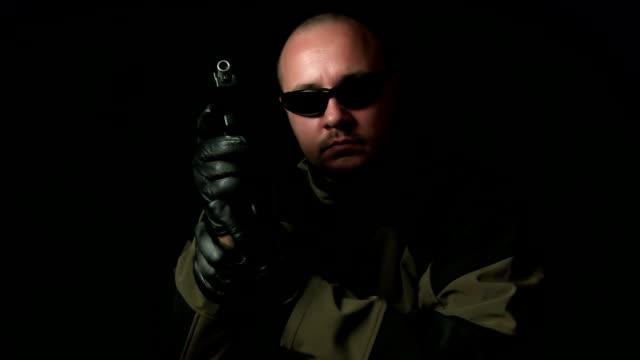 Operator/officer with handgun