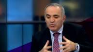 Opposition politician Garry Kasparov interview ENGLAND London GIR INT Garry Kasparov LIVE studio interview SOT Talks of Vladimir Putin being a bigger...