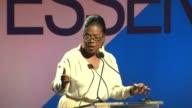 SPEECH Oprah Winfrey at 9th Annual ESSENCE Black Women In Hollywood Luncheon in Los Angeles CA
