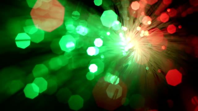 Optical fiber bundle, bright spot.