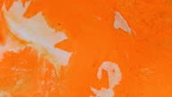 Orange and white creamsicle skin 6 vibrant bright paint and oil color swirls entropy