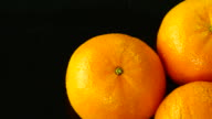 Orange. Close up. Top view.