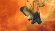 Orange dye dissolving