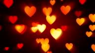 Orange Herz Hintergrund (Endlos wiederholbar