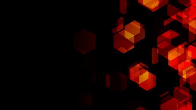Orange Hexagons Right