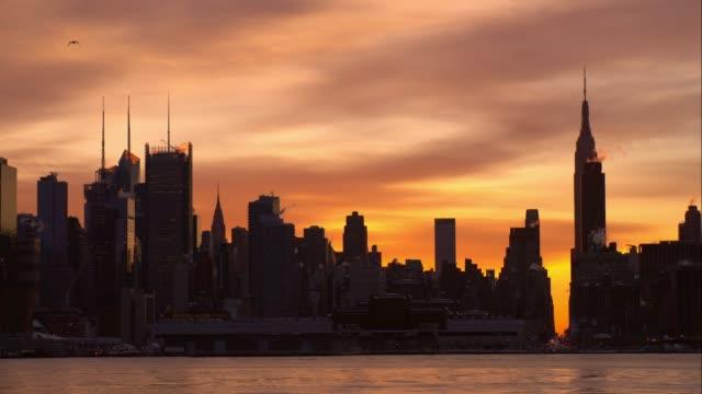 Orange Sky Over Manhattan