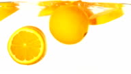 Orange slice falling