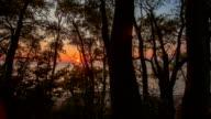 Orange Sonnenuntergang auf See Erie - Zeitraffer