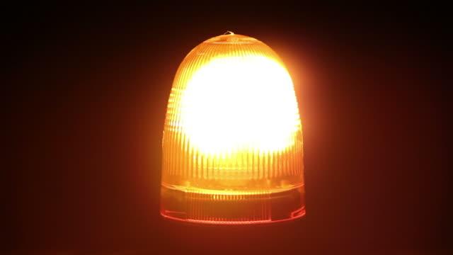 Orange warning light / beacon - Breakdown truck siren flashing