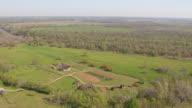 WS AERIAL TS orbit Barrington Living History Farm / Texas, United States