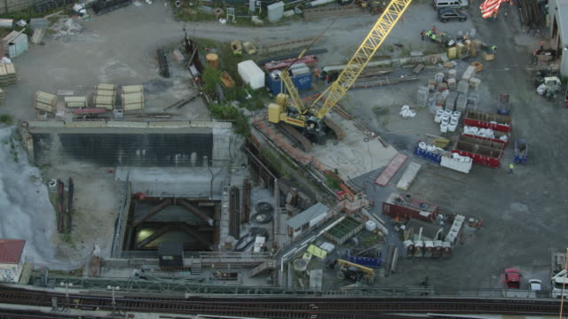 Orbital shot of the East Side Access work site