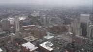 Orbiting downtown Providence, Rhode Island. Shot in November 2011.