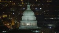 Orbiting the Capitol at night, traffic on Maryland Avenue. Shot in 2011.
