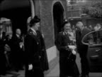 Order of St John investiture at St James's Palace ENGLAND London St James's Palace Palace cars outside MS Lady Mountbatten out from building bids...