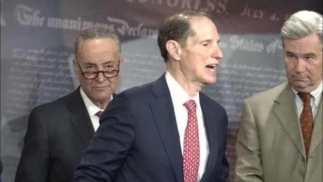 Oregon Senator Ron Wyden says at a press briefing with Senate Democrats that Republicans have a frightful record when it comes to middleclass tax...
