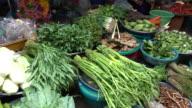 Organic vegetables at public market in Thailand