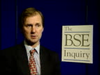 BSE Organophosphate link to be explored ENGLAND London Prof Jeffrey Almond intvwd Talks of contamination possibilities in abattoirs