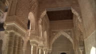 MS, PAN, Ornamental carved walls in Alhambra palace, Granada, Andalusia, Spain