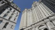 Ornate building surrounding City Hall Park, Manhattan, New York City, New York, USA, North America