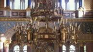 CU TD TU Ornate chandelier in Neuschwanstein Castle, Bavaria, Germany