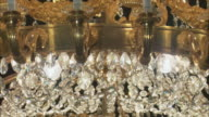 CU TU Ornate chandelier, Royal Palace, Madrid, Spain