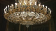 MS TU TD Ornate chandelier, Royal Palace, Madrid, Spain