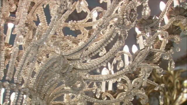CU LA PAN Ornate crystal chandelier, Royal Palace, Madrid, Spain