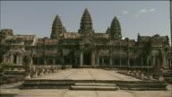 Ornate facade of Angkor Wat, Cambodia