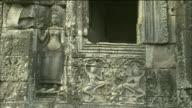 Ornate relief of goddesses at Angkor Wat, Cambodia