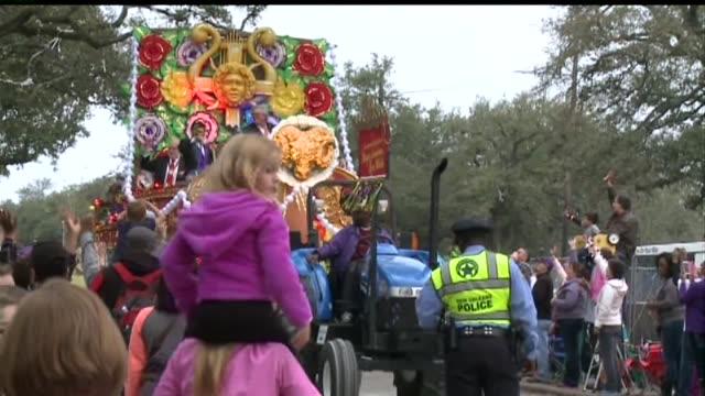 Orpheus Parade in New Orleans on Feb 16 2015