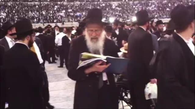 Orthodox Jews gathered at Met Life Stadium to celebrate a ceremony that takes place every 7 1/2 years on August 02 2012 in New York New York