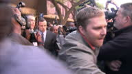 Oscar Pistorius leaving Pretoria Magistrates court and makes his way through busy jostling media scrum Oscar Pistorius court departure on June 04...