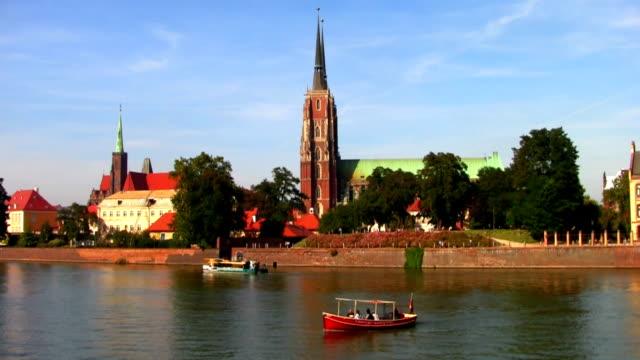 Ostrow Tumski by Odra river in Wroclaw, Poland