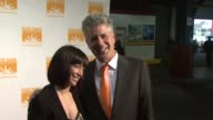 Ottavia Busia and Anthony Bourdain at the Food Bank For New York City's 6th Annual CanDo Awards Dinner at New York NY
